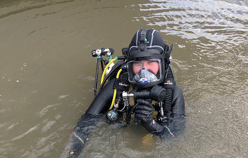 PDTA diver in the patterson river