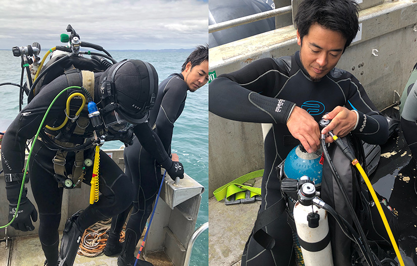 ADAS Part 1 Commercial diver training final dive day
