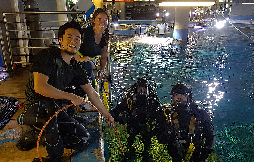 PDTA Part 1 students undertaking Aquarium dives