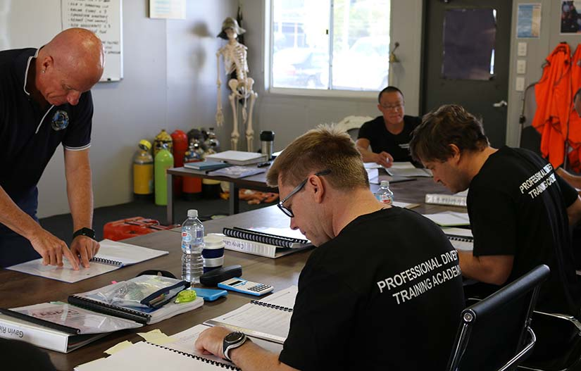 PDTA Commercial diving onshore supervisor students and trainer