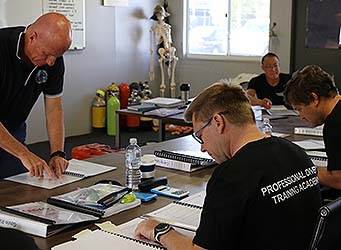 Diving Supervisor students in Classroom