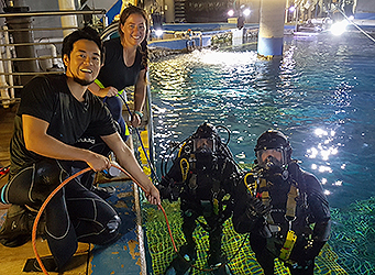 PDTA Aquarium diving students
