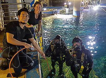 PDTA Aquarium diving students