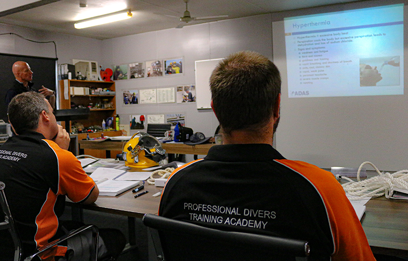 ADAS Part 1 commercial diving student studying hypothermia