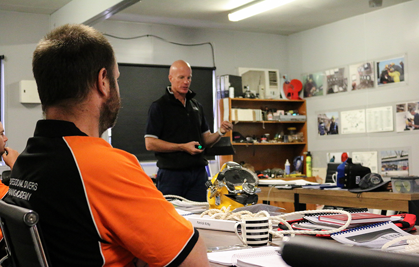 ADAS commercial diving students and trainer