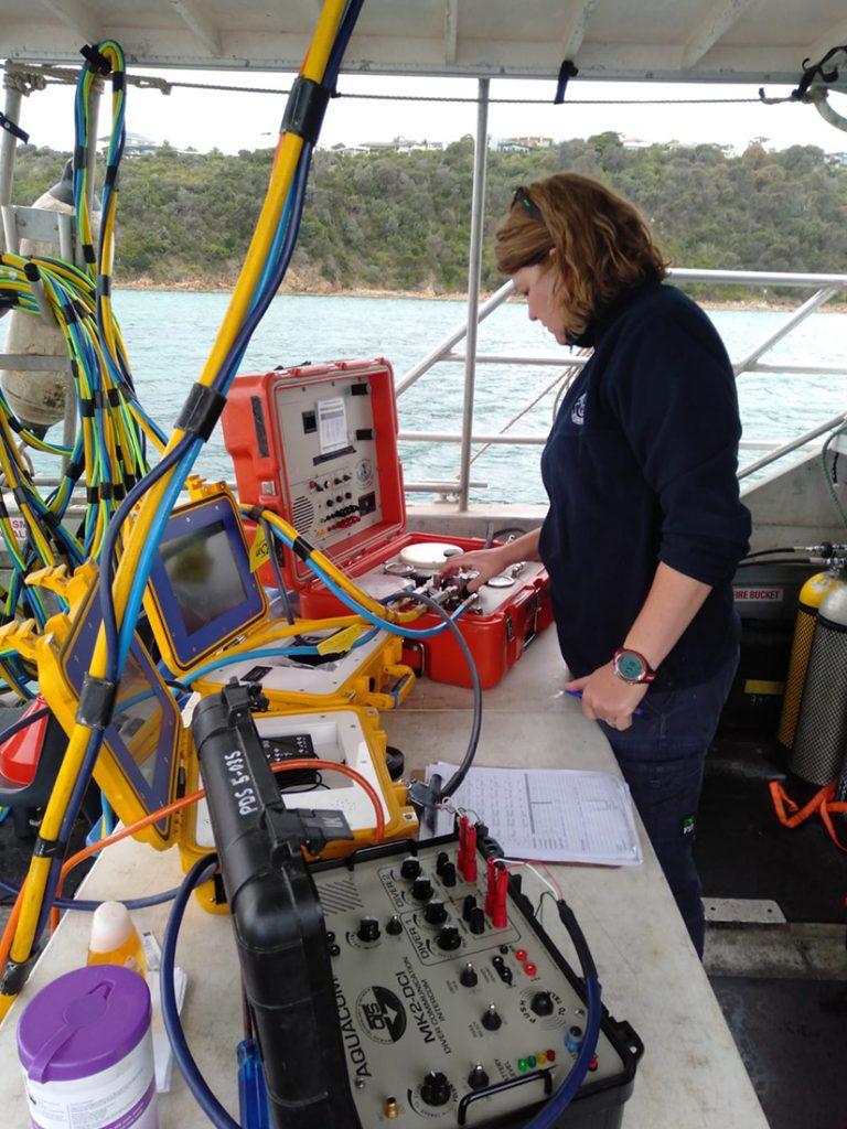 PDTA Dive supervisor on boat