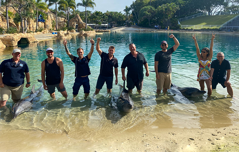 ADAS Part 1 Restricted Occupational SCUBA students at Sea World
