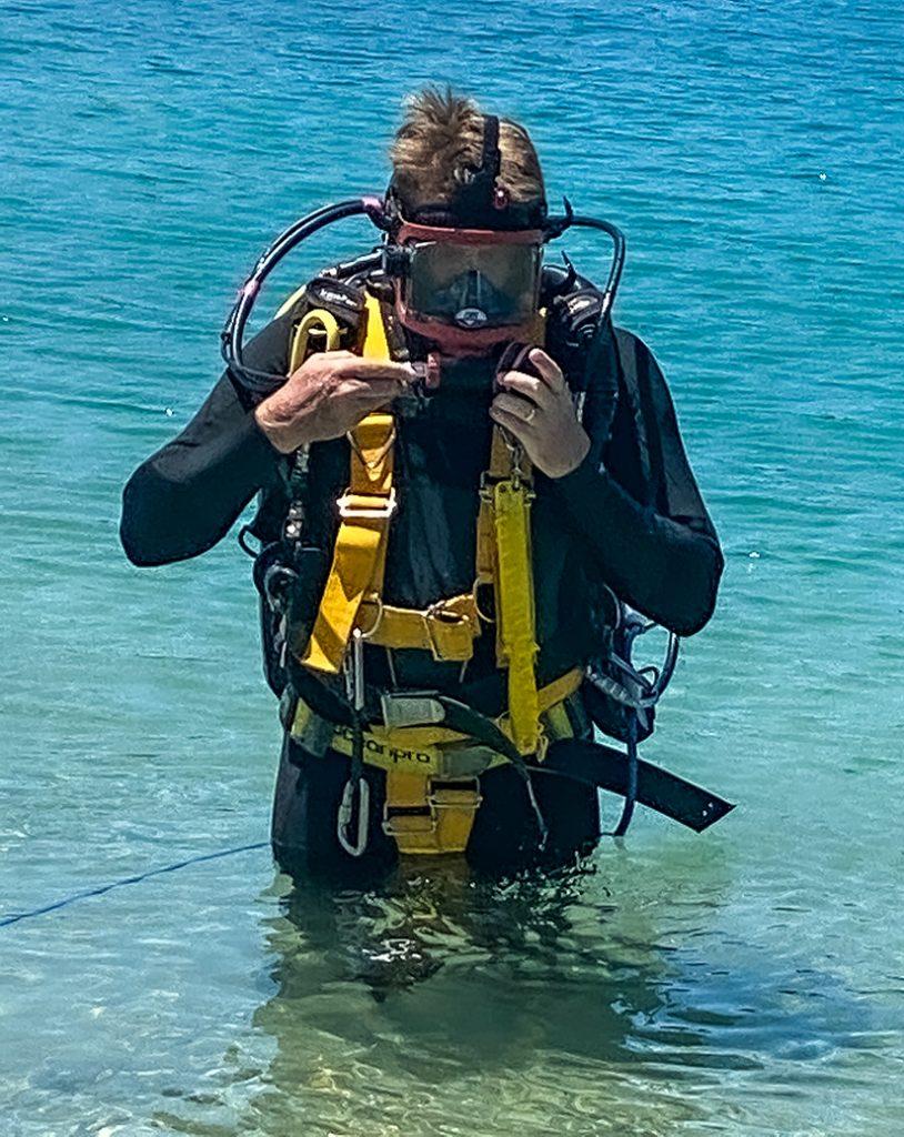 Aquarium Course student at Sea World